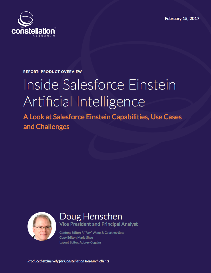Inside Salesforce Einstein Artificial Intelligence cover