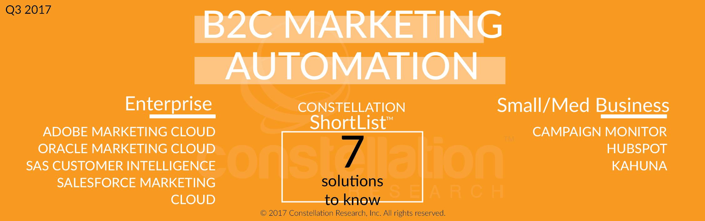 Constellation ShortList B2C Marketing Automation